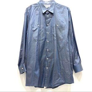 Burberry Dress Shirt Button Down Front 17.5 34